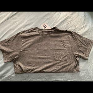 Brand new billabong grey pocket tee size large